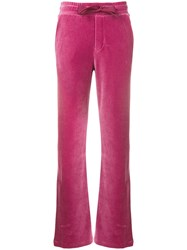 Moncler Brand Track Trousers Pink And Purple