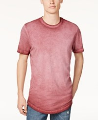 American Rag Men's Ombre Washed Elongated T Shirt Only At Macy's Dark Scarlet