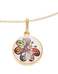 Alex And Ani Butterfly Art Infusion Necklace Charm Gold