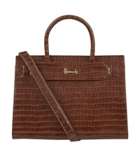 Harrods Blenheim Tote Bag Brown