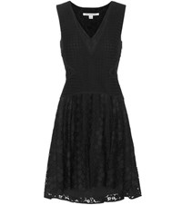 Diane Von Furstenberg Fiorenza Lace Dress Black