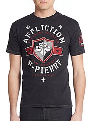 Affliction Team St. Pierre Graphic Tee Black Lava