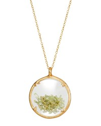 Catherine Weitzman Shaker Birthstone Pendant Necklace August