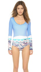 Cover Umbrellas Long Sleeve Maillot Beach Tassels Blue