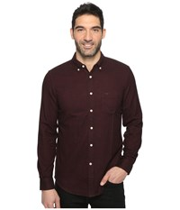 Dockers Premium Portuguese Flannel Shirt Pinot Red Heather Pattern Men's Clothing Brown