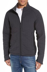 Relwen Men's Quilted Jacket With Ribbed Trim