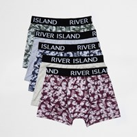 River Island Mensbig And Tall Green Leaf Print Boxers Multipack