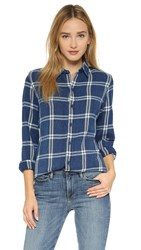 Crippen Susie Shirt Indigo Plaid