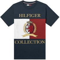 Tommy Jeans Hilfiger Collection Crest And Flag Tee Blue