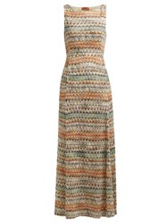 Missoni Zigzag Knit Maxi Dress Multi Stripe