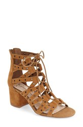 Women's Jessica Simpson 'Haize' Cage Sandal Dark Brown Suede