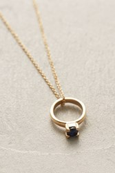 Anthropologie Birthstone Ring Choker Navy