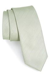 The Tie Bar Herringbone Vow Silk Sage Green