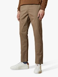 Ted Baker Bake Sincere Slim Fit Chinos Natural Cream