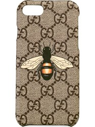 Gucci Bee Print Iphone 8 Case Nude And Neutrals