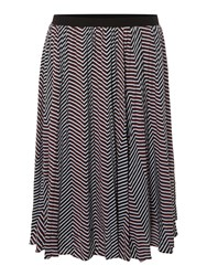 Therapy Amelie Geo Print Pleated Skirt Multi Coloured