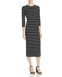 Theory Delissa Striped Maxi Dress Black White