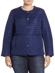 Marina Rinaldi Plus Size Pacifico Quilted Jacket Dark Navy
