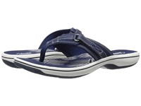 Clarks Breeze Sea Navy Synthetic Women's Sandals Blue
