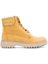 Geox Ankle Lace Up Boots Yellow And Orange