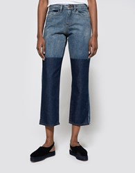 Objects Without Meaning Straight Leg Patch Jean Blues