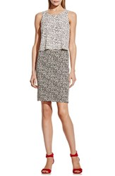 Women's Vince Camuto 'Shadow Forms' Print Block Sleeveless Popover Dress
