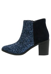 Buffalo Ankle Boots Navy Blue