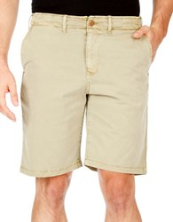 Lucky Brand Solid Blended Cotton Shorts Twill