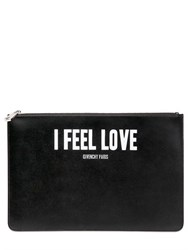 Givenchy Large I Feel Love Printed Leather Pouch