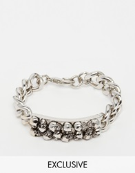 Reclaimed Vintage Chunky Chain Id Bracelet Silver