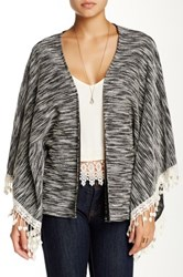 Blvd Lace Fringe Cardigan Black