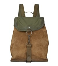 Maison Martin Margiela Suede Canvas Backpack Unisex Brown