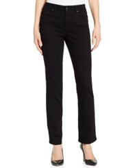 Charter Club Petite Lexington Black Wash Straight Leg Jeans Only At Macy's Saturated Black