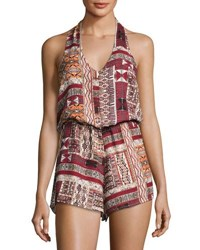 Bishop Young Desert Print Halter Romper Multi Pattern