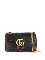 Gucci Monogram Shoulder Bag Black