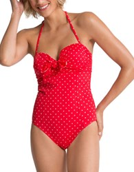 Spanx One Piece Bandeau Push Up Swimsuit
