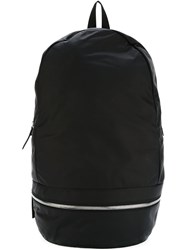 Z Zegna Front Zip Backpack Black