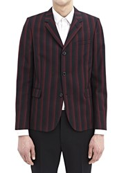Saint Laurent Striped Blazer Jacket Black