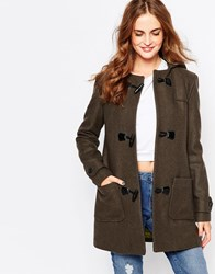 Cooper And Stollbrand Heritage Duffle Coat With Toggle Closure Khaki