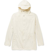 Norse Projects Lindisfarne Cotton Blend Hooded Parka Cream