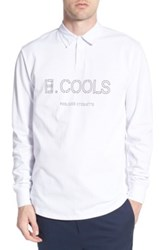 Barney Cools 'Poolside Etiquette' Long Sleeve Rugby Polo White