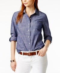 Tommy Hilfiger Cotton Chambray Shirt Only At Macy's