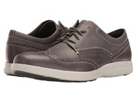 Cole Haan Grand Tour Wing Oxford Magnet Leather Vapor Grey Men's Lace Up Casual Shoes Brown