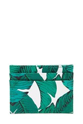 Forever 21 Foliage Print Coin Purse Green White
