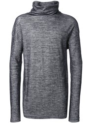 Isabel Benenato Turtle Neck Jumper Grey
