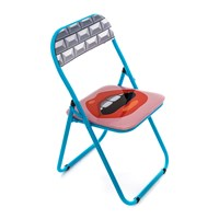 Seletti 'Blow' Folding Chair Metal Mouth