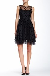 Eva Franco Renee Polka Dot Dress Black
