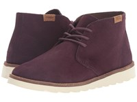Vans Desert Chukka Iron Brown Women's Lace Up Boots Burgundy