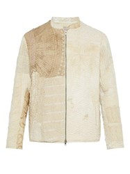 By Walid Victorian Textile Panelled Jacket Beige Multi