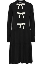 Chinti And Parker Bow Embellished Wool Dress Black